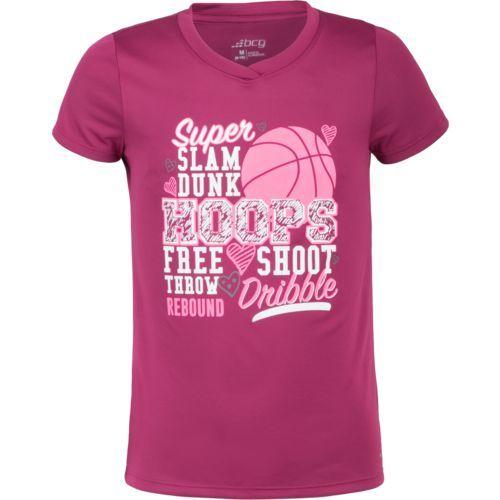 Bcg Girls Basketball Verbiage Training T Shirt Pink Medium Size Small Girl S Apparel Girl S Athletic Tops At Aca Basketball Girls Training Tshirt Shirts