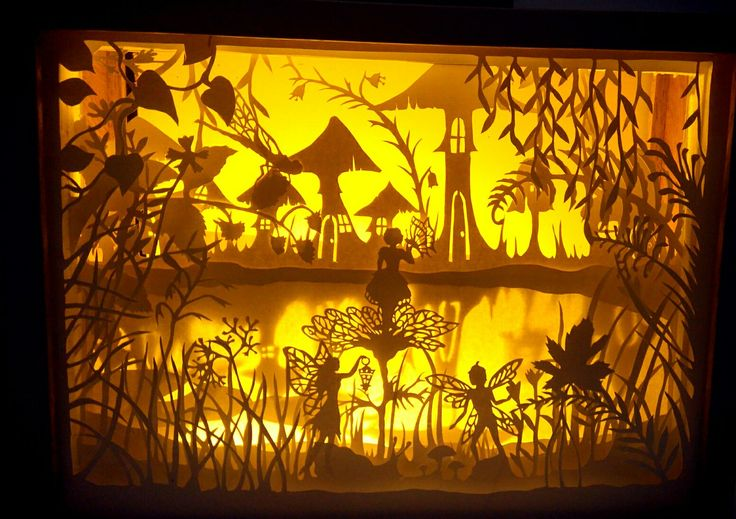 Fairy land (handpapercutshadowboxlight) #shadowbox #shadowboxlight #papercut #fairyland #paperart
