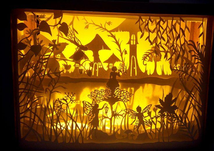 Fairy land (handpapercutshadowboxlight) #shadowbox #shadowboxlight #papercut #fairyland #paperart