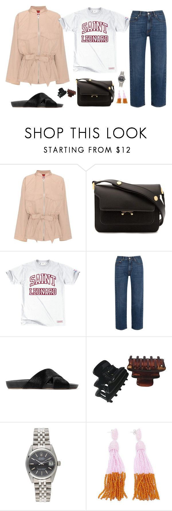 """""""Untitled #1927"""" by mmooa ❤ liked on Polyvore featuring Ganni, Marni, AlexaChung, All Tomorrow's Parties and Rolex"""