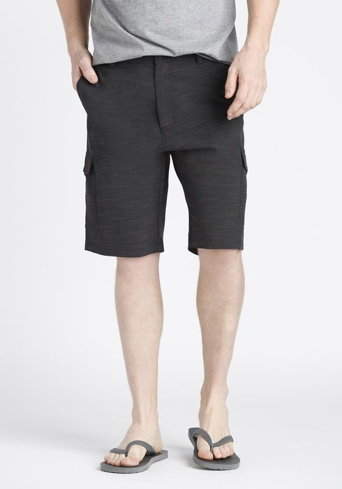HYBRID CARGO SHORT IN BLACK