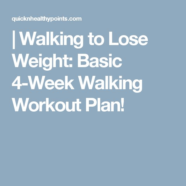|   Walking to Lose Weight: Basic 4-Week Walking Workout Plan!
