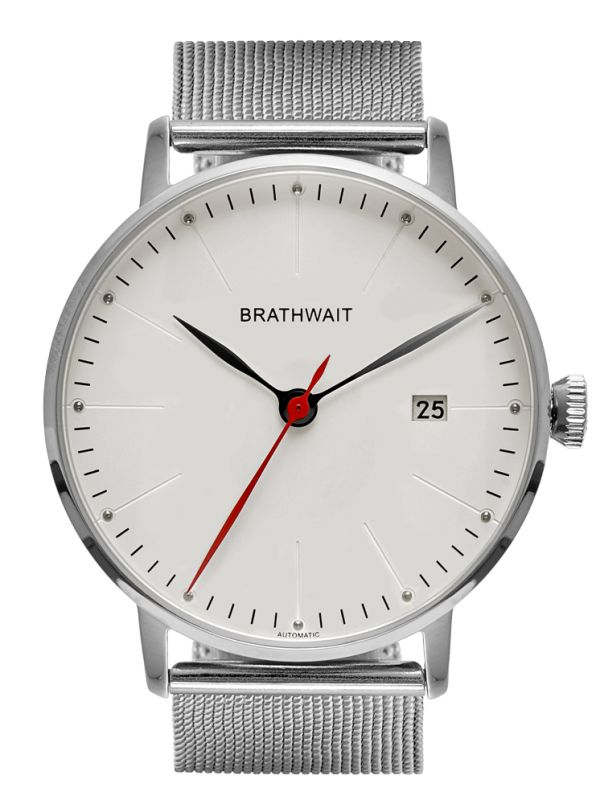 The automatic minimalist wrist watch: Mesh strap – Brathwait