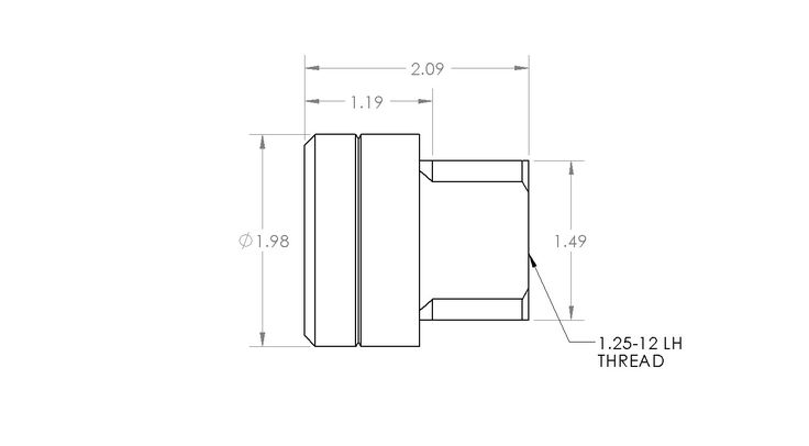 """1 1/4"""" Square Tube Adapter LH"""