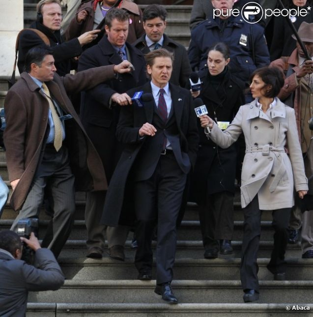 Barry Pepper sur le tournage du film Broken City à New York le 20 novembre 2011