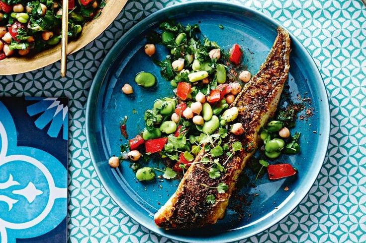 Light and packed with protein, this fish-focused dish from Greg Malouf is ideal for hot summer nights.