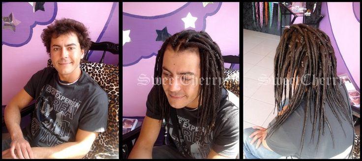 Avant / après pose de dreads brunes