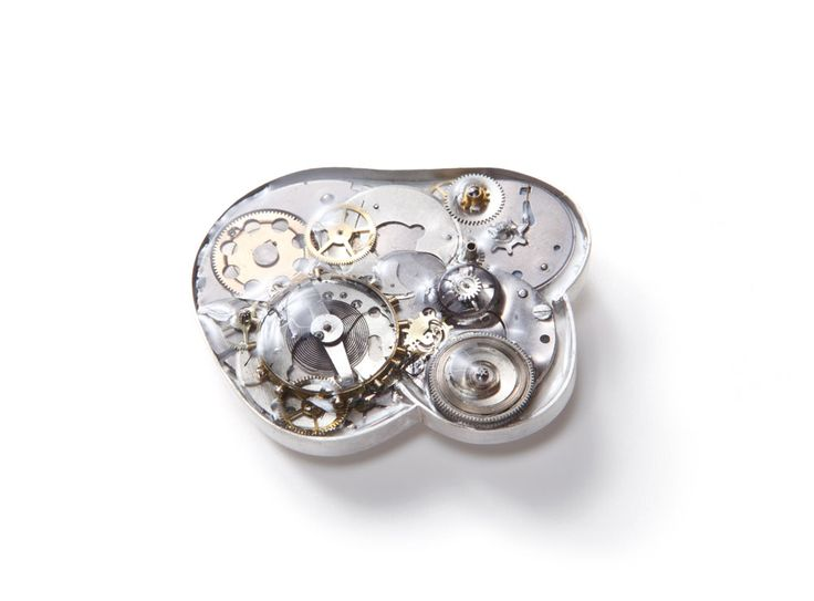 Mari Ishikawa Brooch: Memory, 2014 925 silver, resin, watch parts