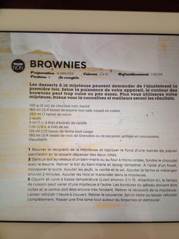Brownies mijoteuse