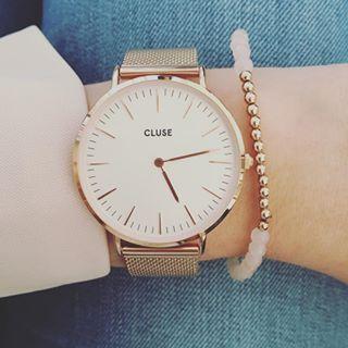 LA BOHÈME MESH ROSE GOLD/WHITE / Kadootje ☺️ #cluse #jarig