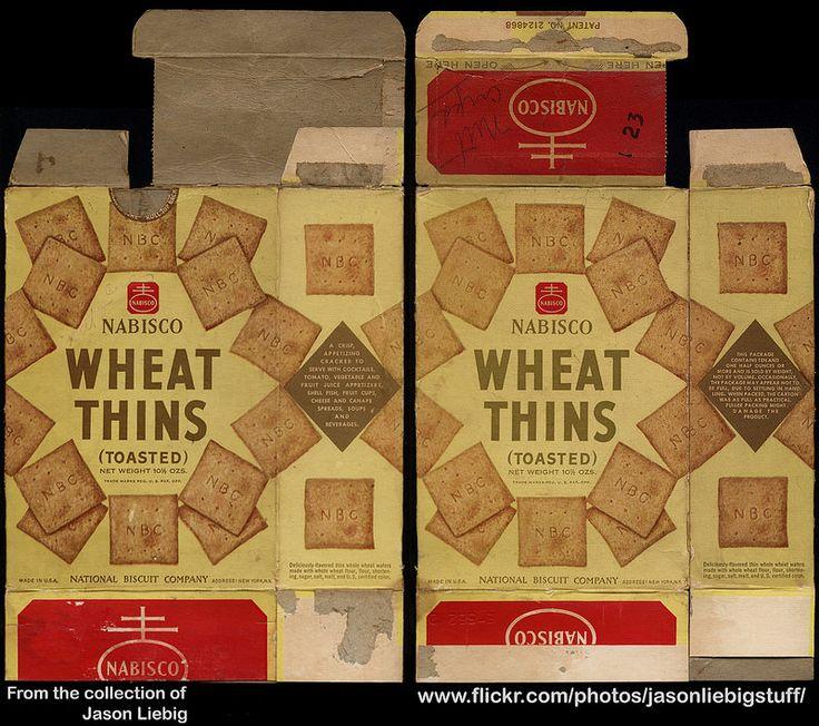 Nabisco - Wheat Thins (Toasted) - 10 1/2 oz snack cracker box - 1940's  1950's   by JasonLiebig