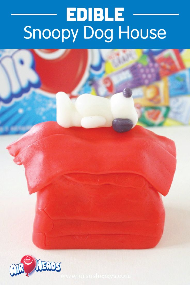 Crafting with candy is a fun way to get the creative juices of your kids' minds flowing! Create this adorable and edible Snoopy Dog House using their favorite candy, Airheads. This inspiring DIY activity is the perfect boredom buster for the cold winter months.