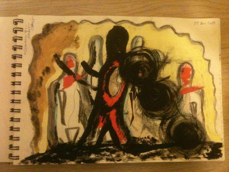 """Communitas"" by #NadirChacin #50dibujos50dias #50Drawings50days #Drawings [Segart, Valencia, Diciembre, 29 nov. 2014]"