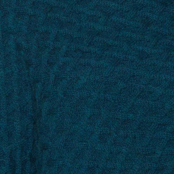Katia baby alpaca basket stitch poncho teal blue green detail