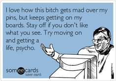 Omggggggggggg YES! Get off ALL of my pages, stalker..home girl somehow sneaks around me blocking her & creeps on my shit. Psycho
