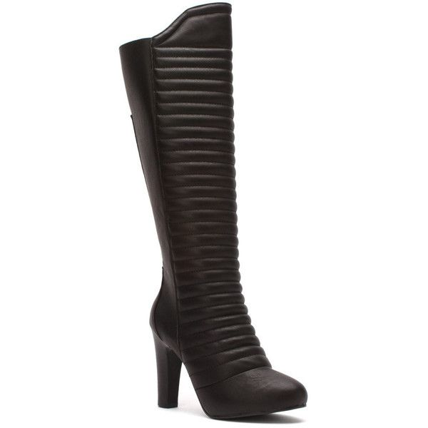 Mojo Moxy Women's Rocket Boots ($120) ❤ liked on Polyvore featuring shoes, boots, black, black evening shoes, vegan boots, black vegan boots, cocktail shoes and high heel shoes