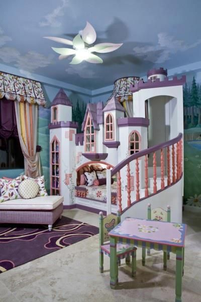 Kids castle bedroom design kids room ideas pinterest for Castle kids room