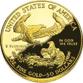 Moneda de oro 50 dolares Estados Unidos onza de oro puro