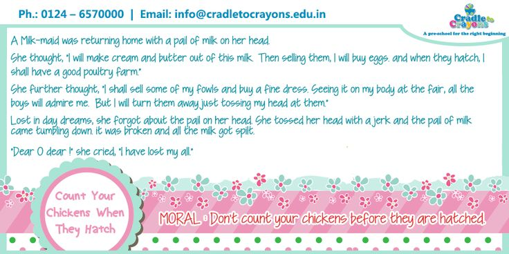 """The story of """"Count Your Chickens When They Hatch"""" teach #kids an important lesson of life. #Cute pic.twitter.com/pItpu7Iesd  #Gurgaon #kids #children #child #parents #toddler #kindergarten http://cradletocrayons.edu.in/"""