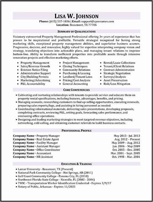 Property Management Resume Examples Inspirational Resume Samples Manager Resume Project Manager Resume Job Resume