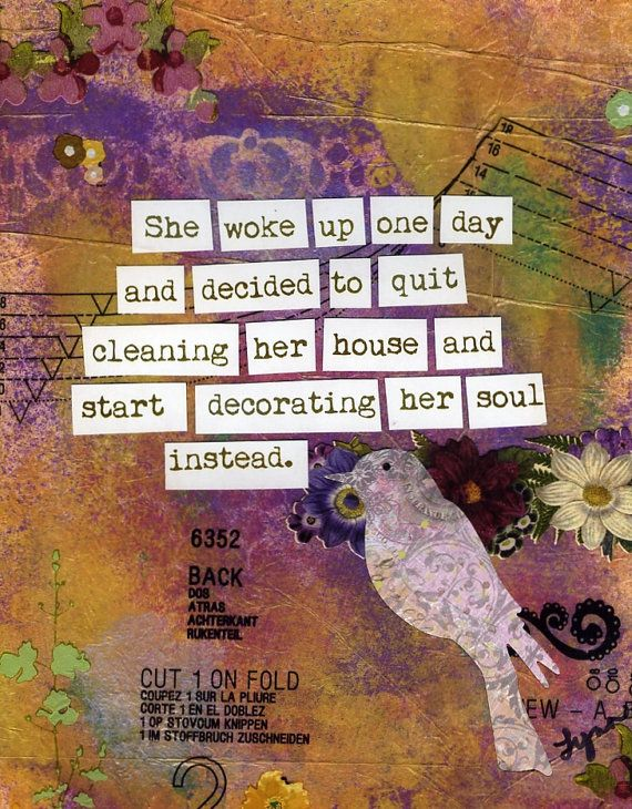 Soul Care... something we all could do better (well, at least I could!)  Inspirational Art Print Decorate Her Soul by SheWokeUpOneDay