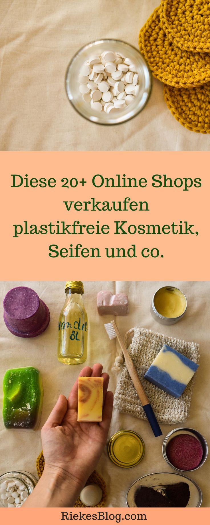20+ Online Shops die plastikfreie Kosmetik, Seifen und co. verkaufen