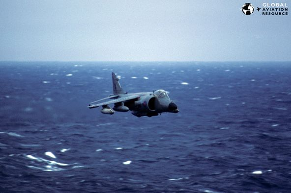 Sea Harrier Speeding At Wave Top The Way They Showed Up