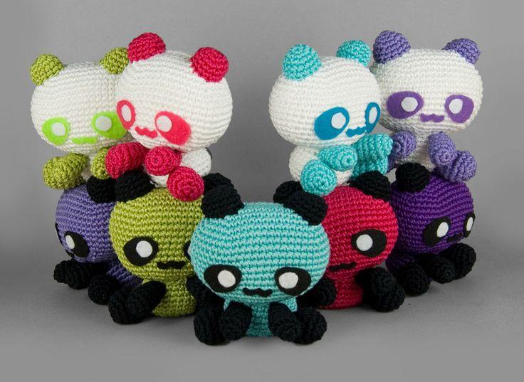Amigurumi Panda Bear Crochet Pattern : Best amigurumi images crochet animals panda