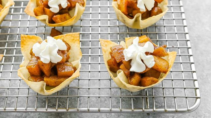 We're always looking for another smart hack for wonton wrappers—and this goes at the top of the list! If you like apple pie, then you'll love this quick and fuss-free mini version that you can make right in a muffin tin. These apple pie mini tarts would make a fantastic addition to any party (or a party of one!).