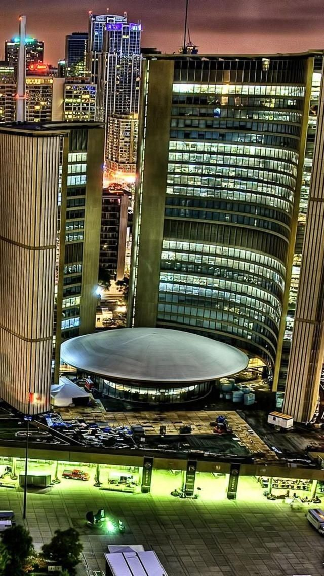 Toronto City Hall, Toronto, Ontario, Canada. It used to be a beautiful city, now..........