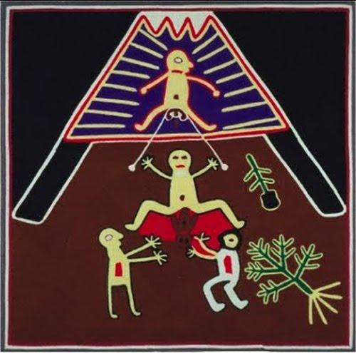 """""""El acto de parir va siempre acompañado de dolor. Los indios huicholes (Jalisco, México) piensan que la pareja de la mujer debe compartir el dolor y el placer de dar a luz: por eso, mientras ella está de parto, el marido se sienta en las vigas situadas sobre su cabeza con una cuerda atada a los testículos. Cada vez que tiene una contracción, la parturienta tira de la cuerda. Al final, el marido siente tanta alegría por el nacimiento del niño como la mujer!"""