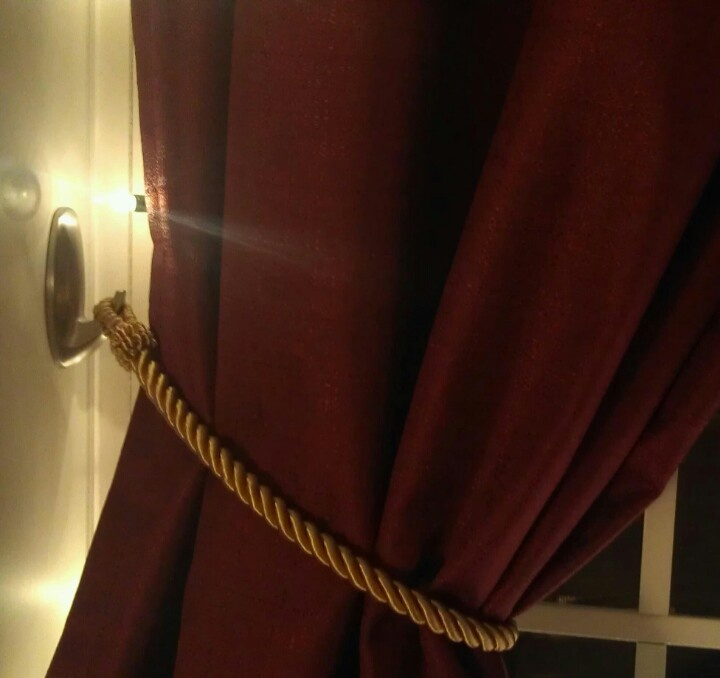 Command Hooks Work Really Well To Part Your Curtains