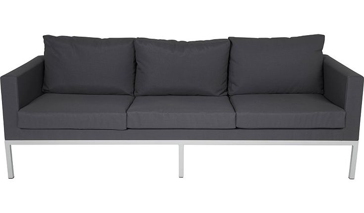 Buy Manhattan Cool 3 Seat Sofa - Grey & White  from our Conservatory Furniture range today from George at ASDA. £225. 2210 x 810 mm
