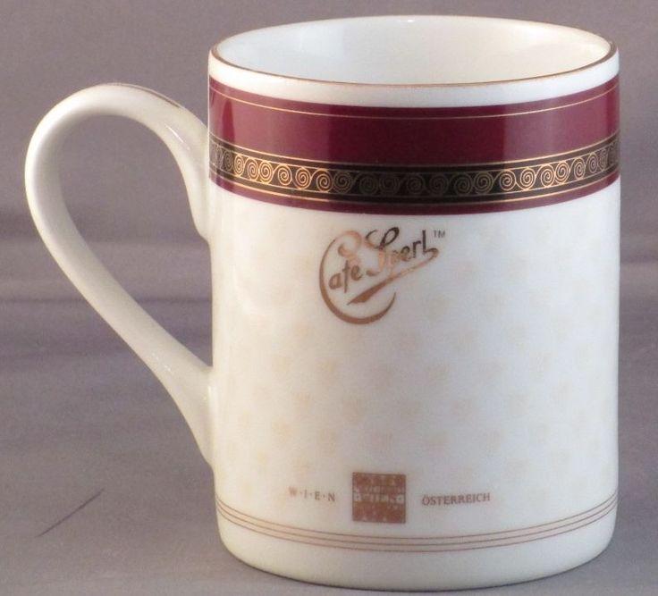 Cafe Sperl Coffee Mug Wein Osterreich European Coffeehouse Cup Burgandy  #WeinOsterreich