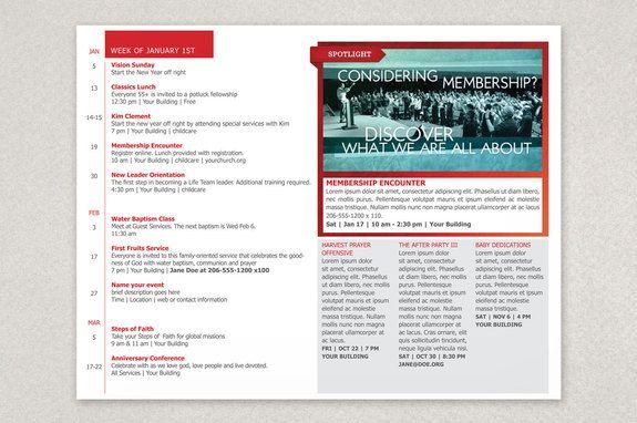 Modern Church Bulletin Brochure Template