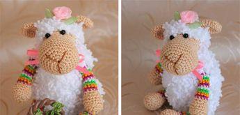 Mathilde het schaap, #haken, gratis patroon, Nederlands, amigurumi, knuffel, speelgoed, #haakpatroon