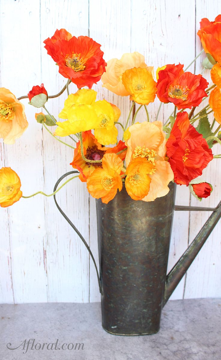 119 best orange wedding images on pinterest orange weddings bright and beautiful orange wedding flowers these faux poppies are always in bloom and a reviewsmspy