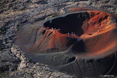 A small crater in 'La Fournaise' caldeira, Reunion Island