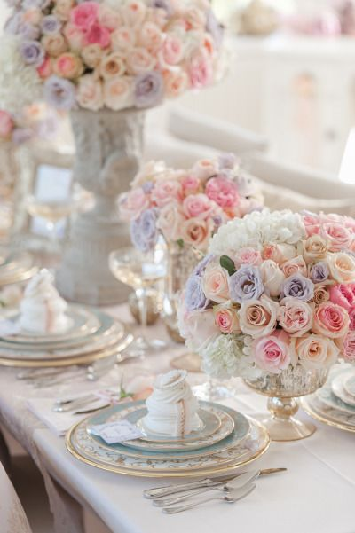 -Pastel - Marie Antoinette Inspired Tablescape.<3