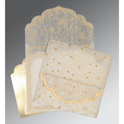 Give your wedding a special feel with our exclusive White/Offwhite/Cream/Ivory, Wooly, Indian Wedding Cards - AIN-8211A