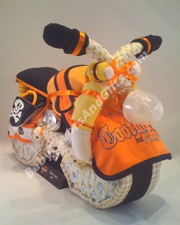 Harley Davidson Bike Diaper Cake From Baby Favors And Gifts Dot Com