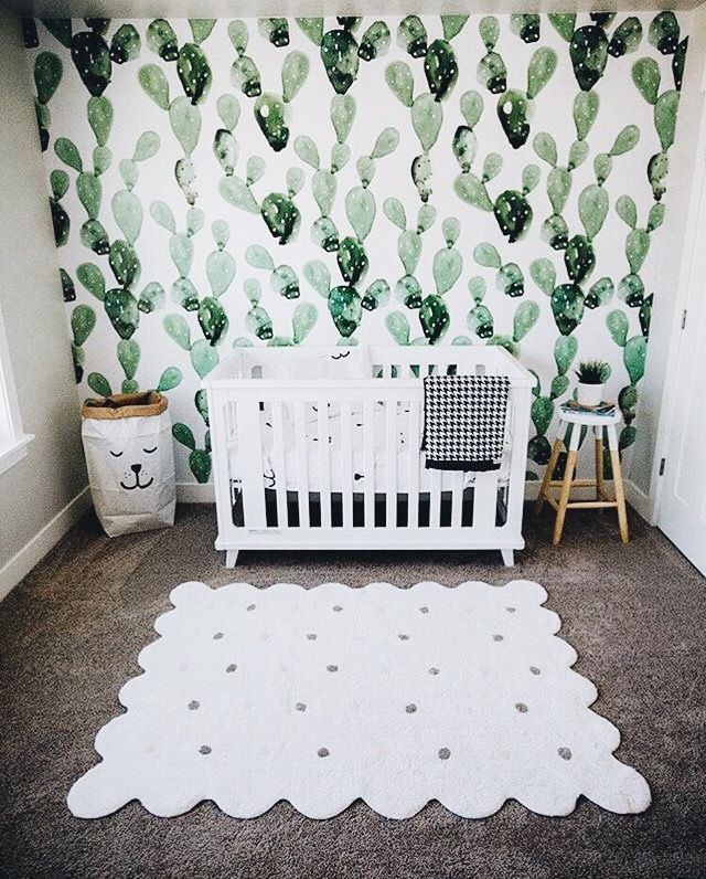 This really caught my eye - simple, unique and modern nursery decor idea that looks quite easy to achieve