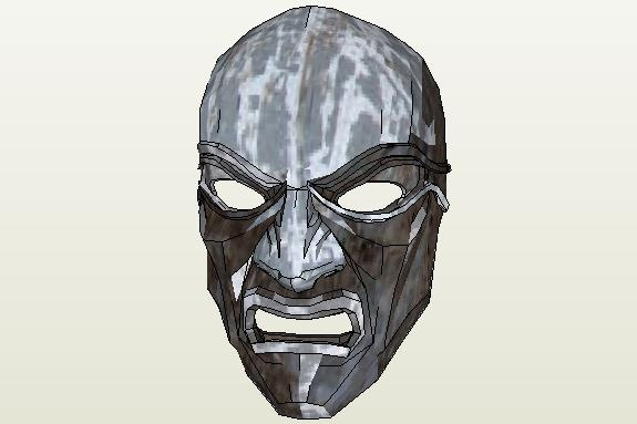 Dishonored Overseer Mask Papercraft - by PepMaster - via Pepakura Gallery   ==        Here is the Overseer Mask from Dishonored, scaled to 200mm High, created by designer PepMaster. To view and print this model you will nedd Pepakura Viewer Free Version (link at the end of this post).
