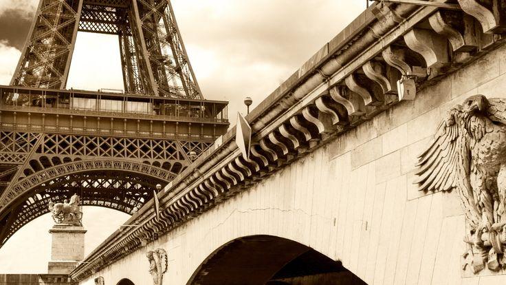 Eiffel Tower and its beautiful Bridge