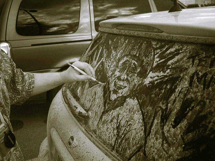 Best Dirty Car Doodles Images On Pinterest Doodles Amazing - Scott wade makes wonderful art dusty car windows