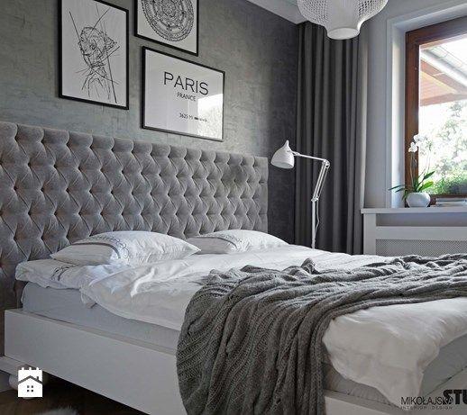 sypialnia przytulna-cosy bedroom - zdjęcie od MIKOŁAJSKAstudio