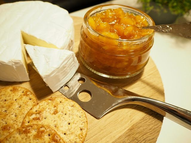 Amazing Apricot jam for the cheese plate