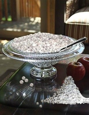 edible diamonds  Great idea for the tea and coffee and the bridal shower!!