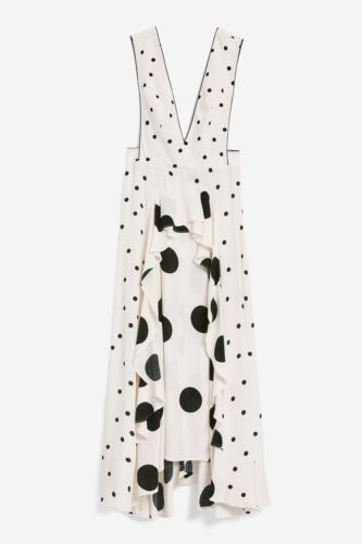 1e8bd132b3cde BNWT TOPSHOP MIX SPOTTED POLKA DOT MIDI DRESS SIZE UK 10 | Dresses ...