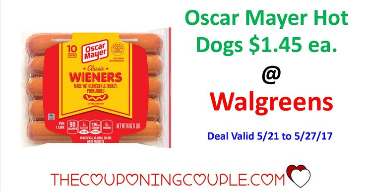 Print your coupons NOW for Oscar Mayer Hot Dogs Only $1.45 @ Walgreens Thru 5/27/17! These will be great for the grill this weekend!!  Click the link below to get all of the details ► http://www.thecouponingcouple.com/oscar-mayer-hot-dogs/ #Coupons #Couponing #CouponCommunity  Visit us at http://www.thecouponingcouple.com for more great posts!
